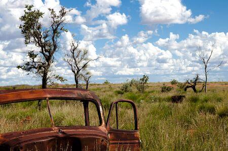 australian outback: Rusty Vehicle - Australian Outback Stock Photo