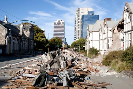 Christchurch Earthquake 2011 - New Zealand Foto de archivo