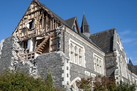 demolish: Christchurch Earthquake 2011 - New Zealand Stock Photo