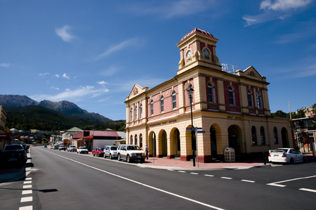post office: QUEENSTOWN, TASMANIA - DECEMBER 8, 2011: Post office building of the small town in Tasmania Editorial