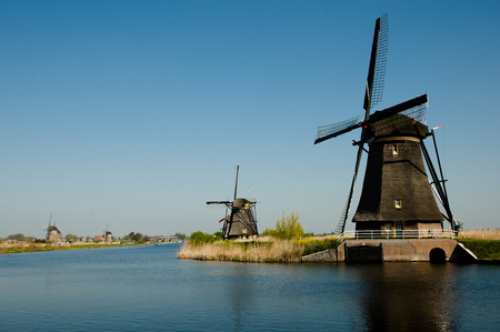 the netherlands: Windmills - Kinderdijk - Netherlands