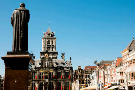 hugo: Hugo de Groot Monument - Delft - Netherlands Stock Photo
