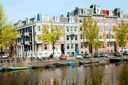 center city: Canal in Amsterdam - Netherlands