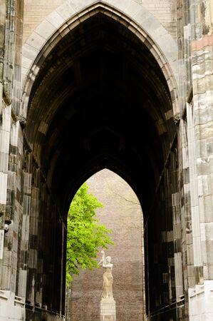 utrecht: Dom Tower Entrance - Utrecht - Netherlands Stock Photo