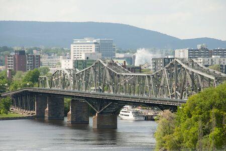 alexandra: Alexandra Bridge - Ottawa - Canada Stock Photo