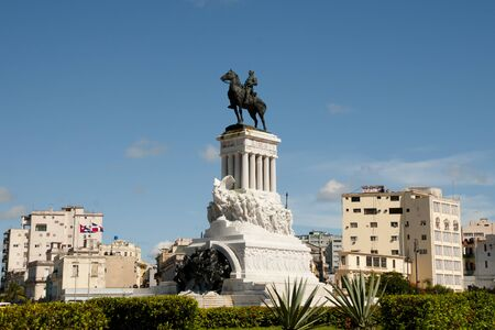 gomez: Statue of General Maximo Gomez - Havana - Cuba