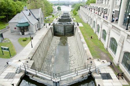 rideau canal: Rideau Canal Locks - Ottawa - Canada