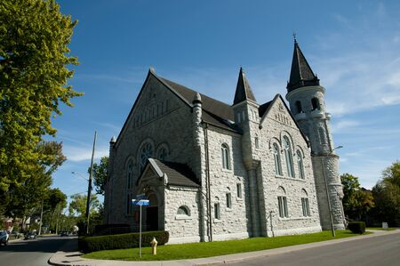 kingston: Chalmers United Church - Kingston - Canada Stock Photo