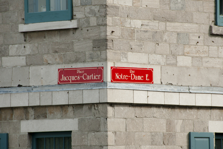 pannel: Notre Dame Street  Sign - Montreal - Canada