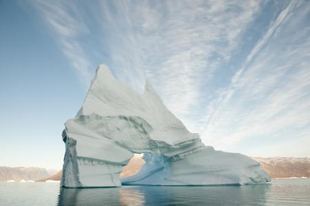 sund: Pierced Iceberg - Scoresby Sound - Greenland