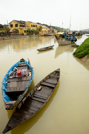 hoi an: Hoi An Boats - Vietnam Stock Photo