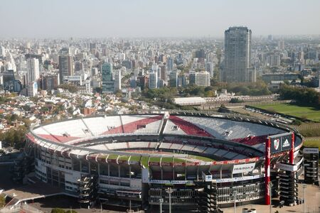 futbol: BUENOS AIRES, ARGENTINA - May 5, 2015: River Plate football team stadium also known as Antonio Vespucio Liberti stadium. The stadium is also the venue for the national football team of Argentina. Editorial