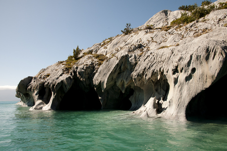 marmol: Marble Caves - Carrera Lake - Chile Stock Photo