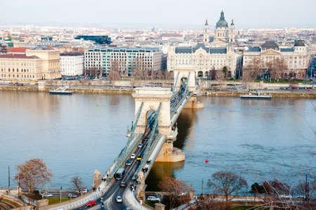 hungary: Chain Bridge - Budapest - Hungary