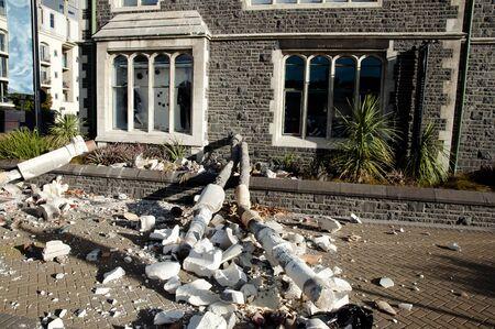 demolishing: Christchurch Earthquake 2011 - New Zealand Stock Photo