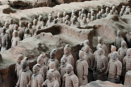 テラコッタ戦士 - 西安 - 中国 写真素材