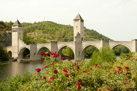 Valentre Bridge - Cahors - France Foto de archivo