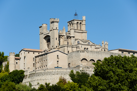 and saint: Saint Nazaire Cathedral - Beziers - France Stock Photo