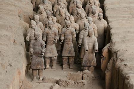 Warrs en terre cuite - Xian - Chine Banque d'images