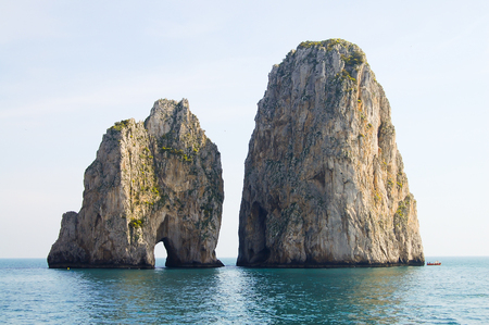 capri: Capri Island Cliffs - Italy Stock Photo