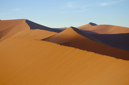 namibia: Sand Dunes - Sossusvlei - Namibia Stock Photo