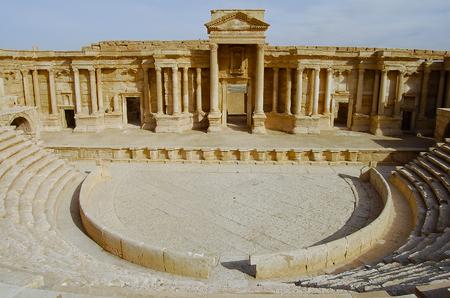パルミラ遺跡 - (内戦) 前に、シリア 写真素材 - 55637198
