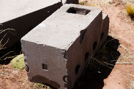 indent: Puma Punku Stone Block - Bolivia
