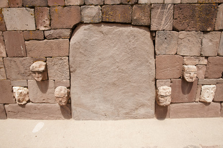 tenon: Tenon Heads - Tiwanaku - Bolivia