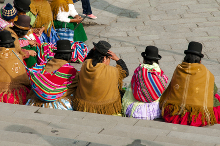 la paz: Women in Bowler Hats - La Paz - Bolivia