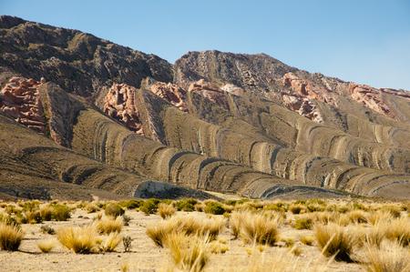 sedimentary: Sedimentary Folded Layers - Jujuy - Argentina Stock Photo