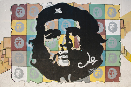 che guevara: HAVANA, CUBA - June 7, 2015: Wall painting of Ernesto Che Guevara in old Havana Editorial