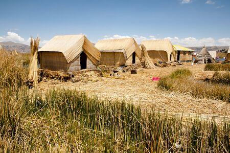 balsa: Uros Islands - Lake Titicaca - Peru Stock Photo