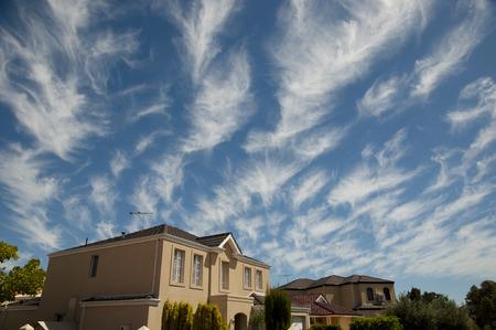 Cirrus Clouds - Australia Stock Photo