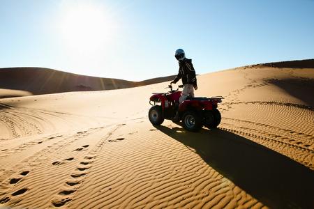 quad: Quad Biking Silhouette - Merzouga - Morocco