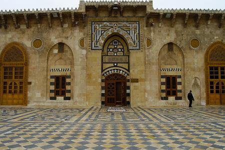The Great Mosque of Aleppo - Syria Фото со стока