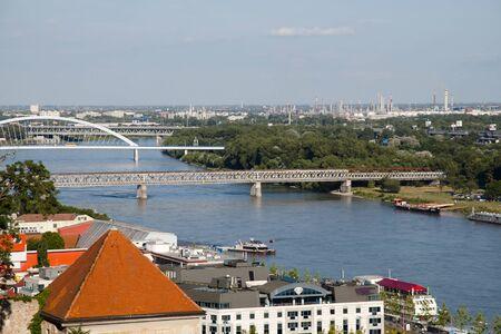 slovakia: Danube River - Bratislava - Slovakia Stock Photo