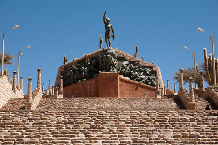 the liberator: The Monument to the Heroes of Independence - Humahuaca - Argentina Stock Photo