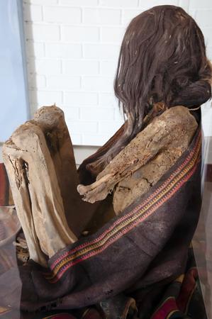 mummified: Mummy - Chauchilla Cemetery - Peru Stock Photo