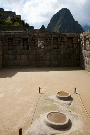 machu picchu: Water Mirror Pools - Machu Picchu - Peru