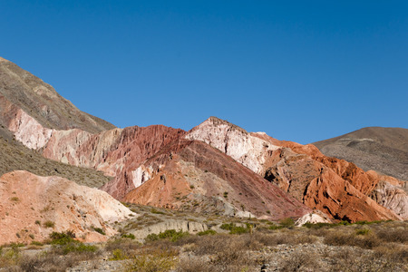 siete: Mountain of Seven Colors - Purmamarca - Argentina Stock Photo