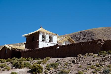 colonial church: Colonial Church - Machuca - Chile Stock Photo