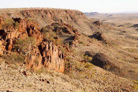 australian outback: Iron Ore Valley - Australian Outback Stock Photo
