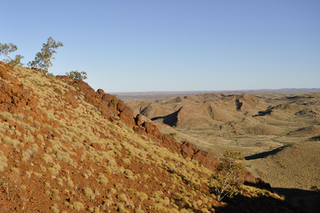 the outback: Iron Ore Valley - Australian Outback Stock Photo