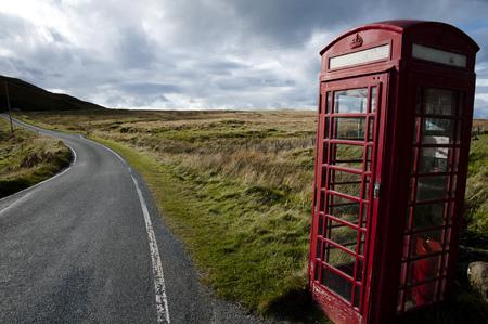 cabina telefono: Cabina de teléfono rojo - Highlands - Escocia
