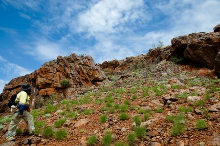 prospecting: Geologist Prospecting for Iron Ore - Pilbara - Australia