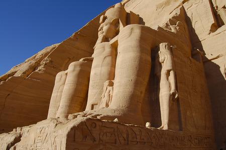 King Ramses II - Abu Simbel Temple - Egypt Фото со стока