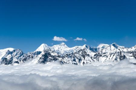 View from Cho La Pass - Nepal Foto de archivo