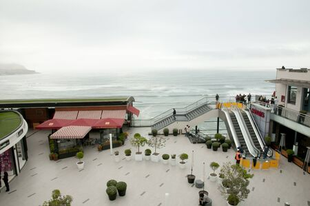 miraflores: LIMA, PERU - September 15, 2014: Miraflores coastal area of Lima is the most modern part of the capital city
