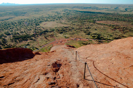 ayers: View from Ayers Rock - Uluru - Australia Stock Photo