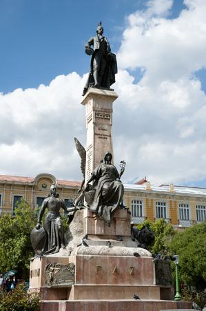 murillo: Pedro Murillo Statue - La Paz - Bolivia